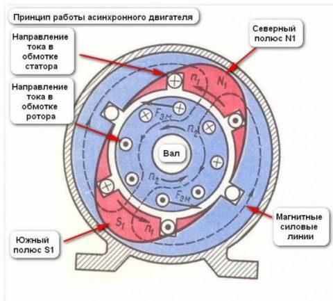 Как работает асинхронный электродвигатель однофазный