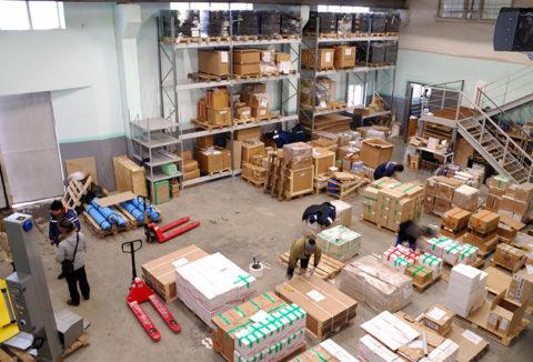 Участок упаковки товаров