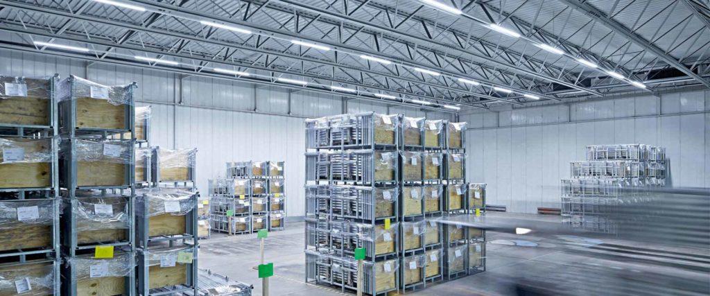 Освещение складских площадей