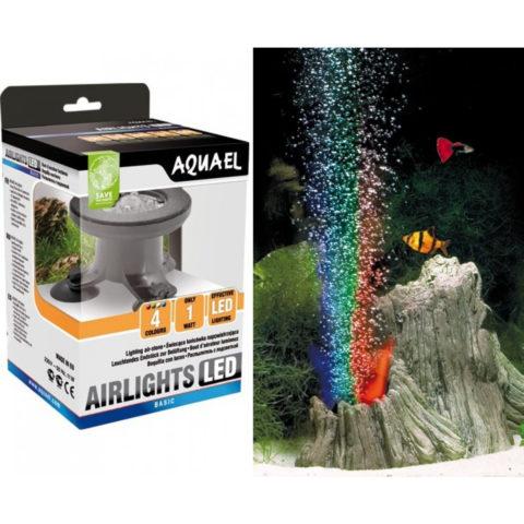 Декоративное освещение в аквариуме при помощи аэратора легко сделать своими руками