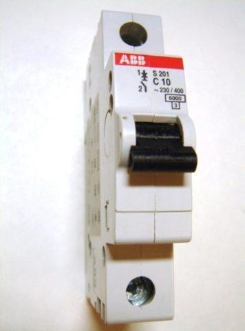 Как подключаются автоматы в щитке: ABB – однополюсной автомат