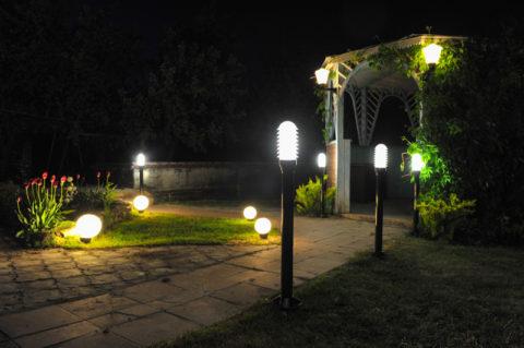 Светодиодное ландшафтное освещение боллардами