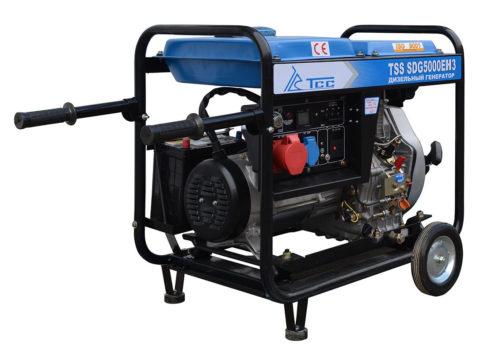 Дизельный однофазный генератор 5 кВт