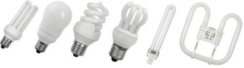 Разновидности форм люминесцентных ламп
