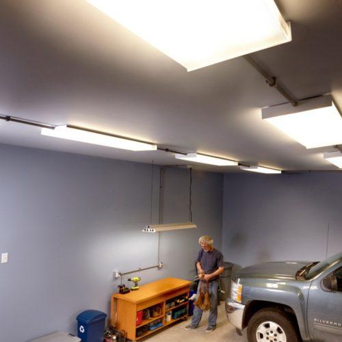 Лампы освещения для гаража