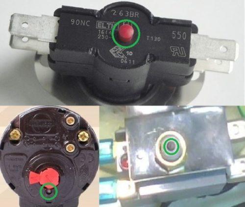 Расположение кнопок на разных моделях термостатов
